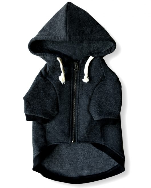 Ellie Dog Wear Charcoal Grey Front Hoodie
