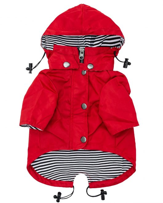 Red Dog Raincoat Front