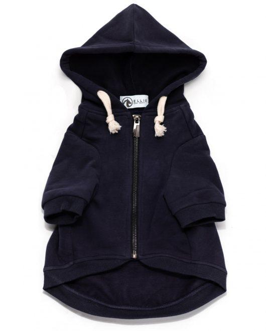 navy dog hoodie 1