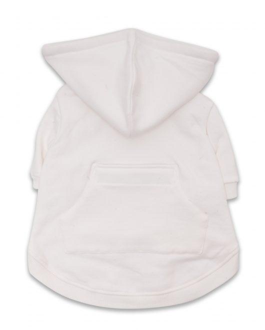 Ellie Dog Wear white dog hoodie 1