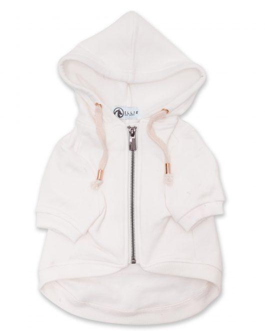 Ellie Dog Wear white dog hoodie