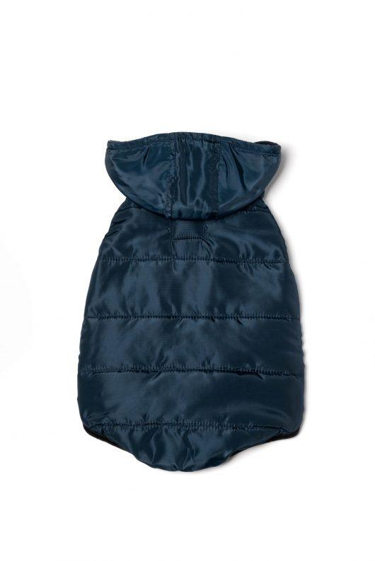 navy dog vest back